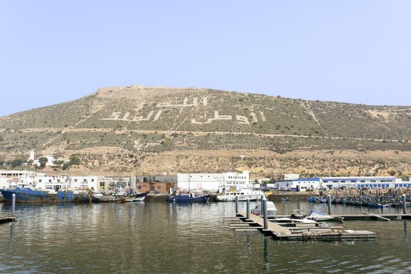 Essaouira port stock photo
