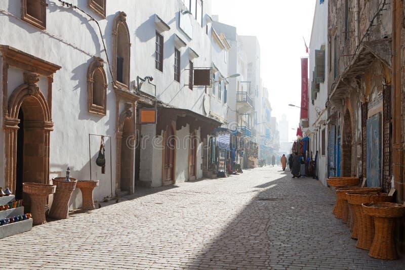 Essaouira. Sunny morning in Medina of Essaouira (formerly Mogador), Morocco royalty free stock image