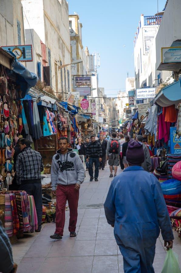 Essaouira ulica fotografia royalty free