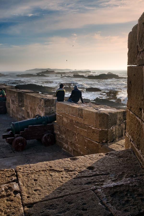 Essaouira vallar på solnedgången, atlantisk kust av Marocko arkivfoton
