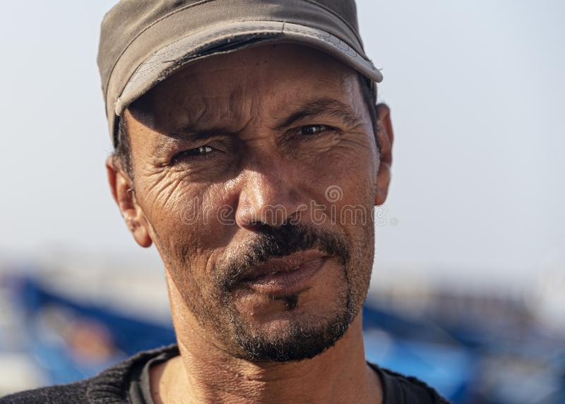 Moroccan Man, Mid 30's, Fisherman stock photo