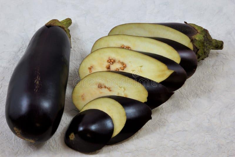 Essbare Frucht der köstlichen Zartheit der Aubergine lizenzfreies stockfoto