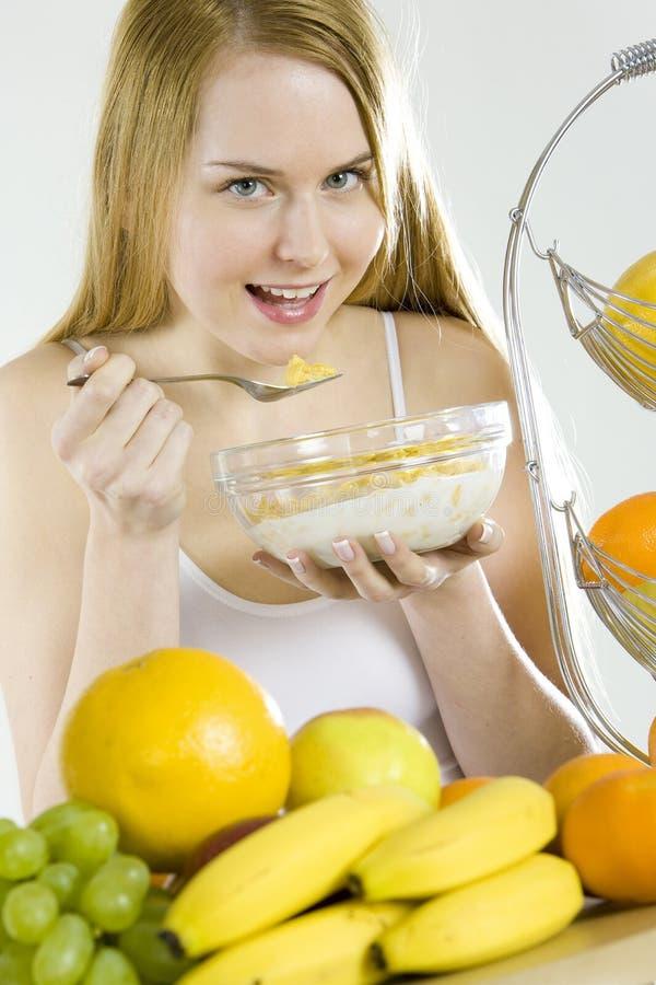 Essen der Frau lizenzfreies stockfoto