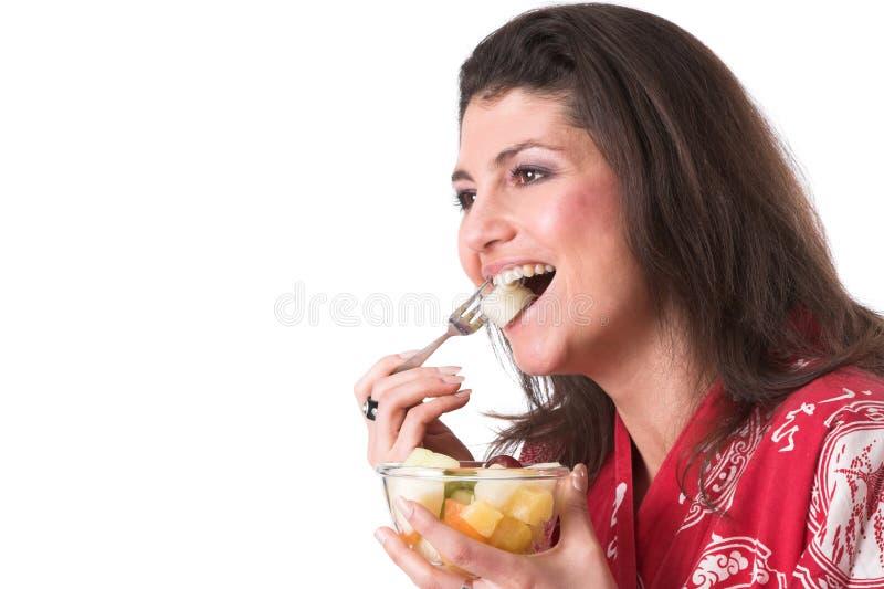 Essen der Frucht stockbilder