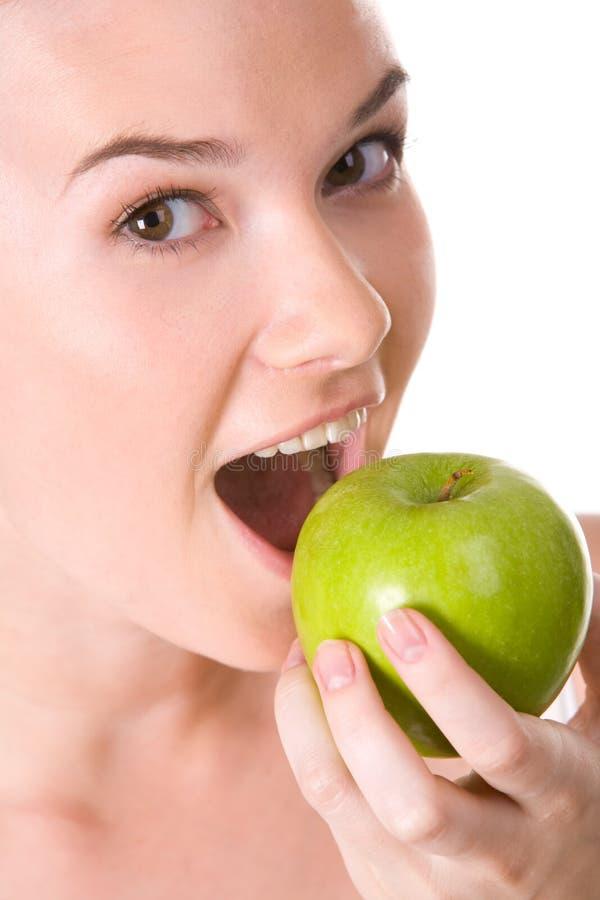 Essen des Apfels lizenzfreie stockfotos