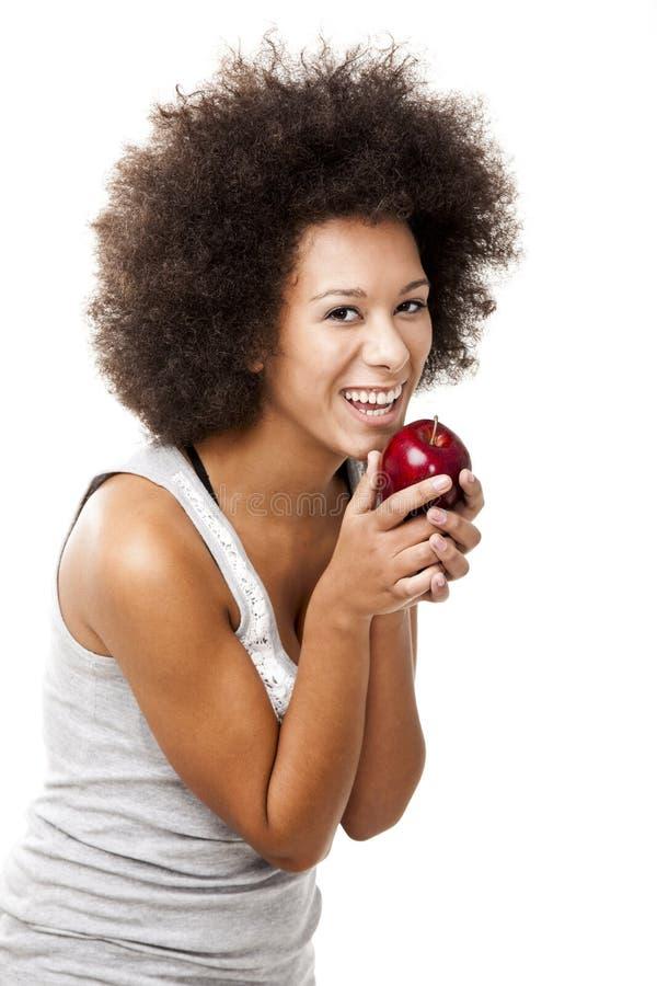Essen des Apfels lizenzfreies stockfoto