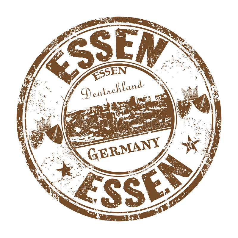 Essen grunge rubber stamp royalty free stock images