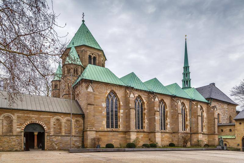 Essen Minster, Germany. Essen Minster or Essen Cathedral. The minster was formerly the collegiate church of Essen Abbey, Germany stock photos