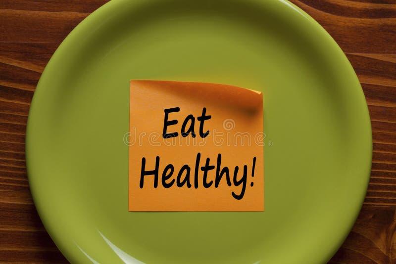 Essen Sie gesundes Konzept lizenzfreies stockbild