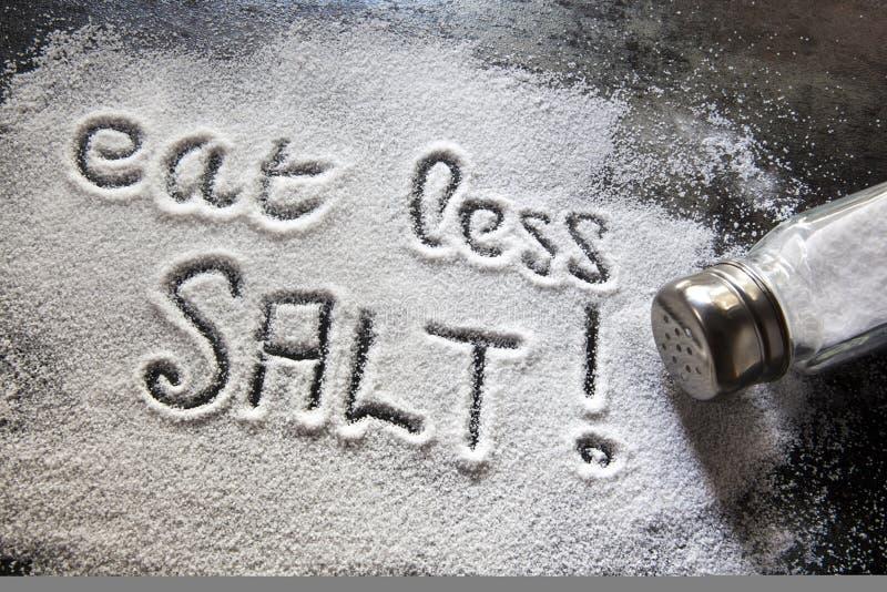 Essen Sie weniger Salz stockbilder
