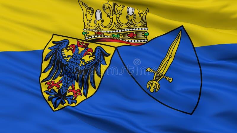 Essen stadsflagga, Tyskland, Closeupsikt stock illustrationer