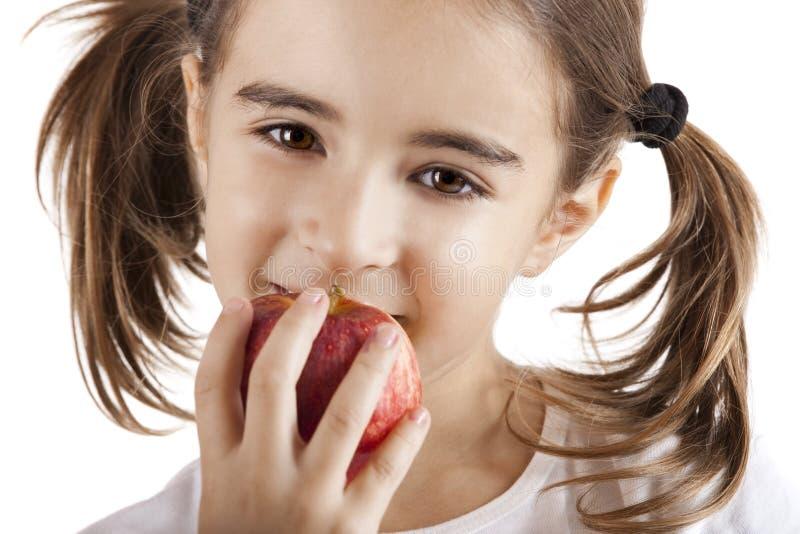 Essen von einem Apple stockfotografie