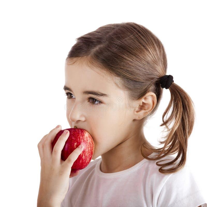 Essen von einem Apple stockfotos