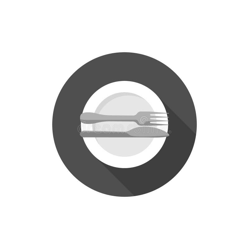 Essen von Etikette, von Gabeln und von Messersignalen ausgezeichnet lizenzfreie abbildung