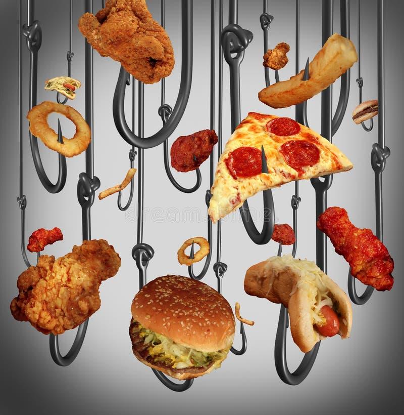 Essen von Sucht stock abbildung