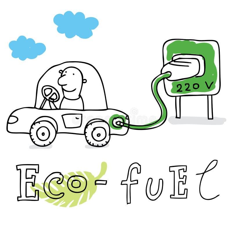Essence d'Eco, dessinant illustration de vecteur