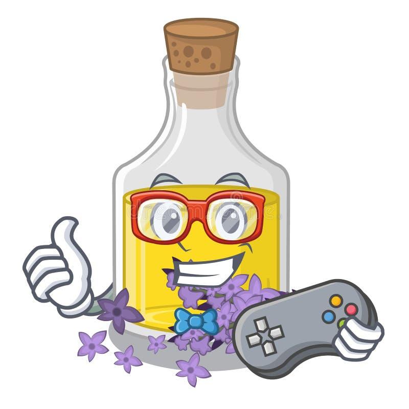 Essence de lavande de Gamer dans la forme de caractère illustration libre de droits
