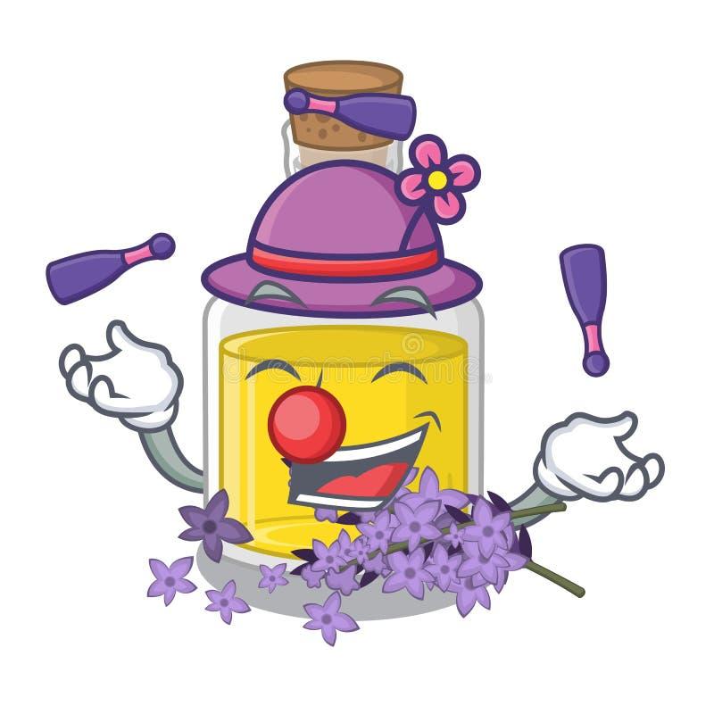 Essence de lavande de jonglerie au-dessus de table de maquillage de bande dessinée illustration libre de droits