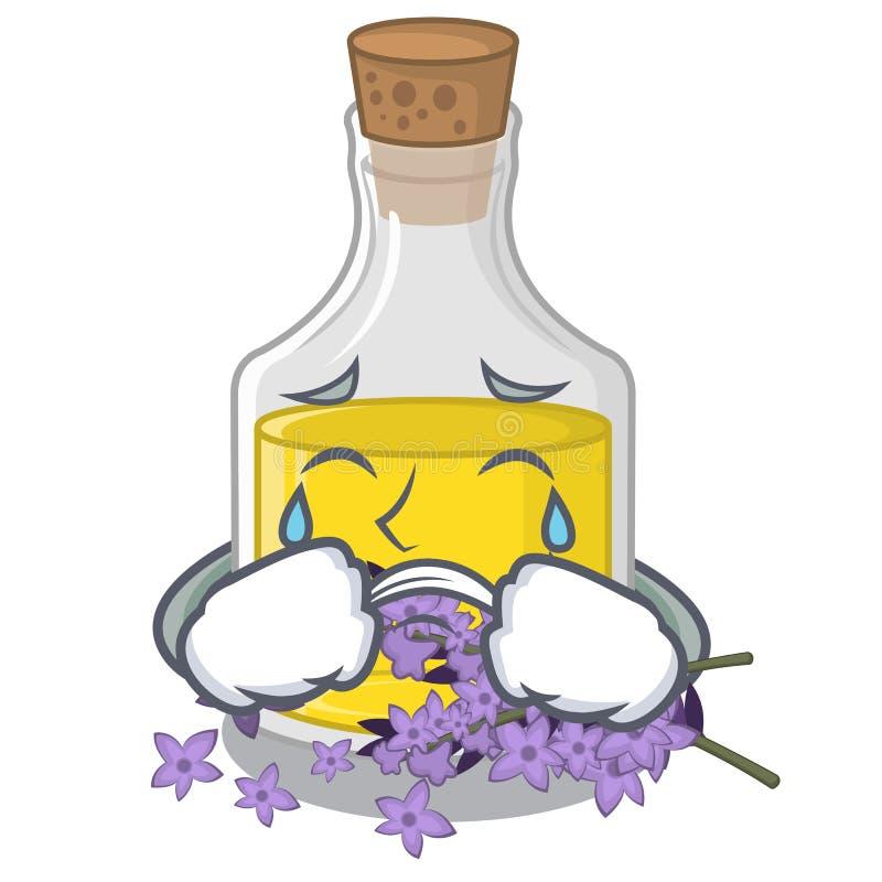 Essence de lavande pleurante dans la forme de caractère illustration stock