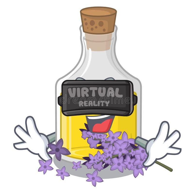 Essence de lavande de réalité virtuelle dans la forme de caractère illustration libre de droits