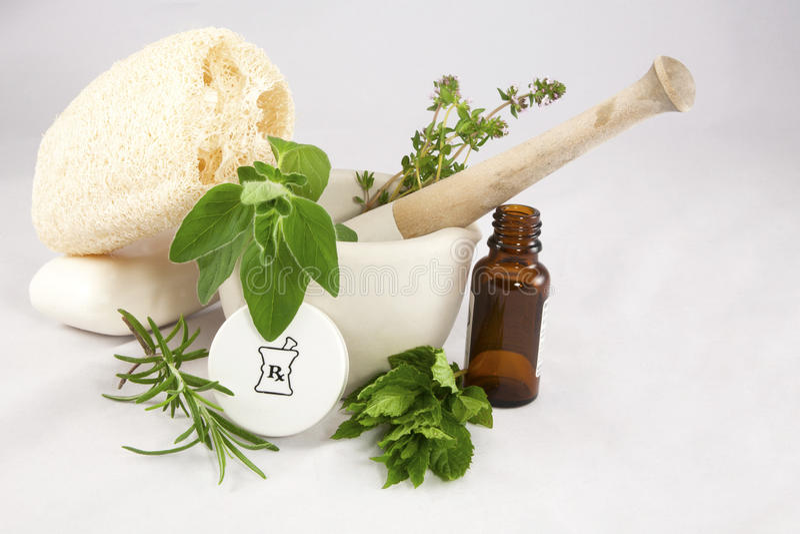 Essence des herbes image stock