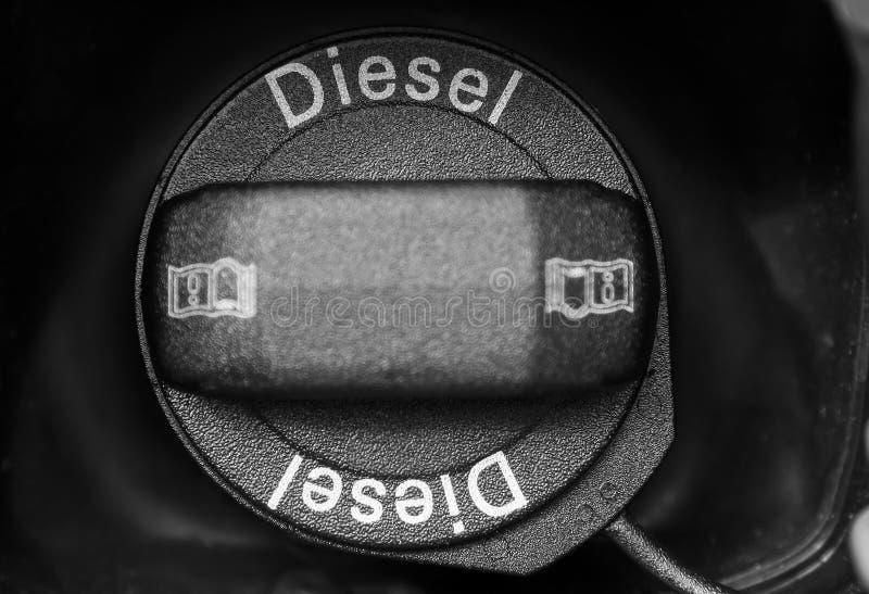 Essence diesel, réservoir d'essence images stock