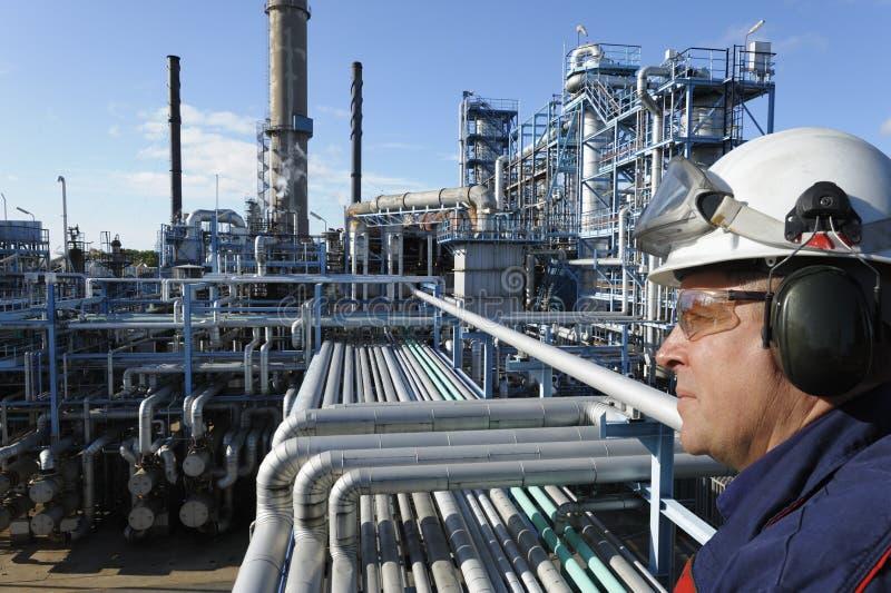 Essence, pétrole et gaz industriels images stock