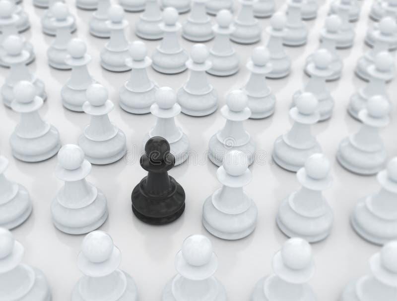 Essendo unico - pezzo degli scacchi royalty illustrazione gratis