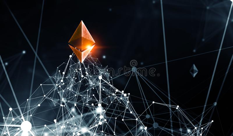 The essense of crypto currency stock illustration