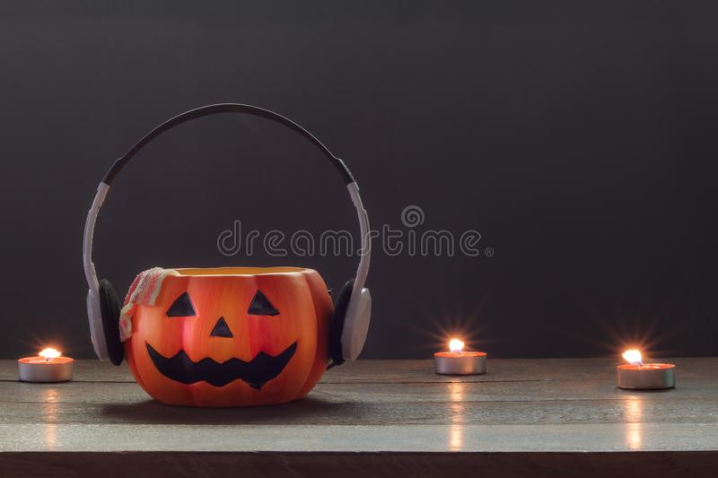 Essential accessory of Happy Halloween decorations festival and music concept royalty free stock image