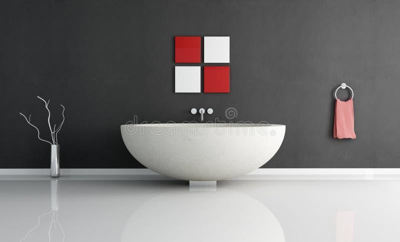 Essential Contemporary Bathroom Royalty Free Stock Photos