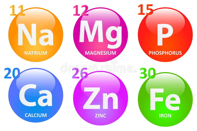 Essential Minerals. For A Healthy Life royalty free illustration