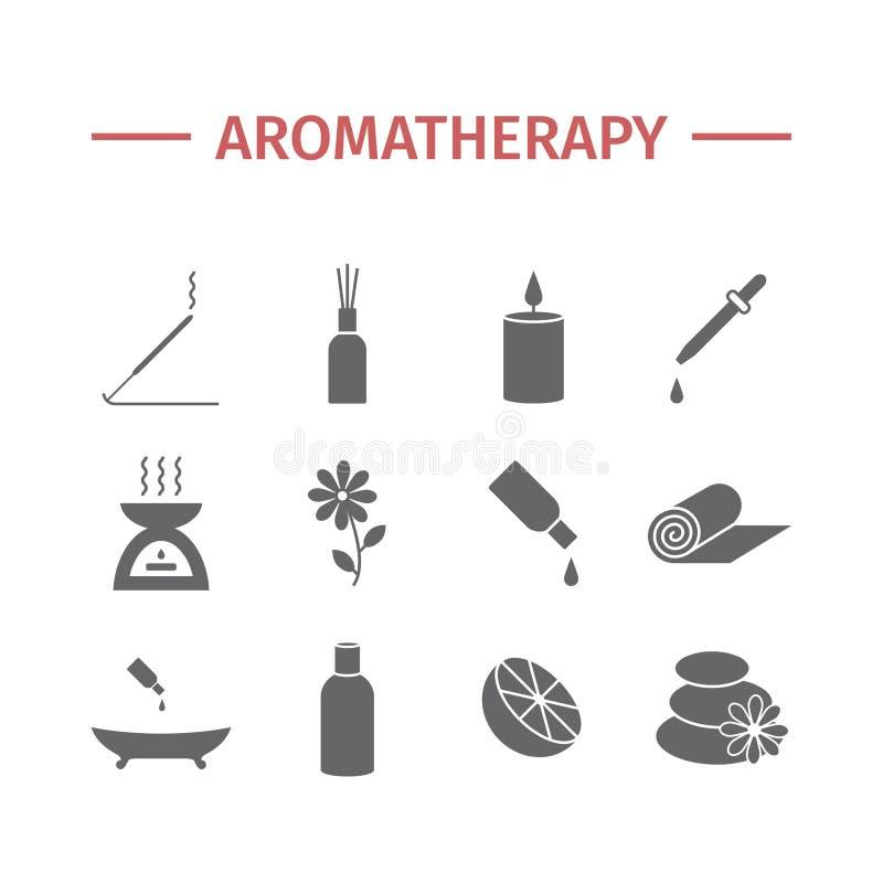 Essential Oil icon. Aromatherapy oils set. Vector. Illustration