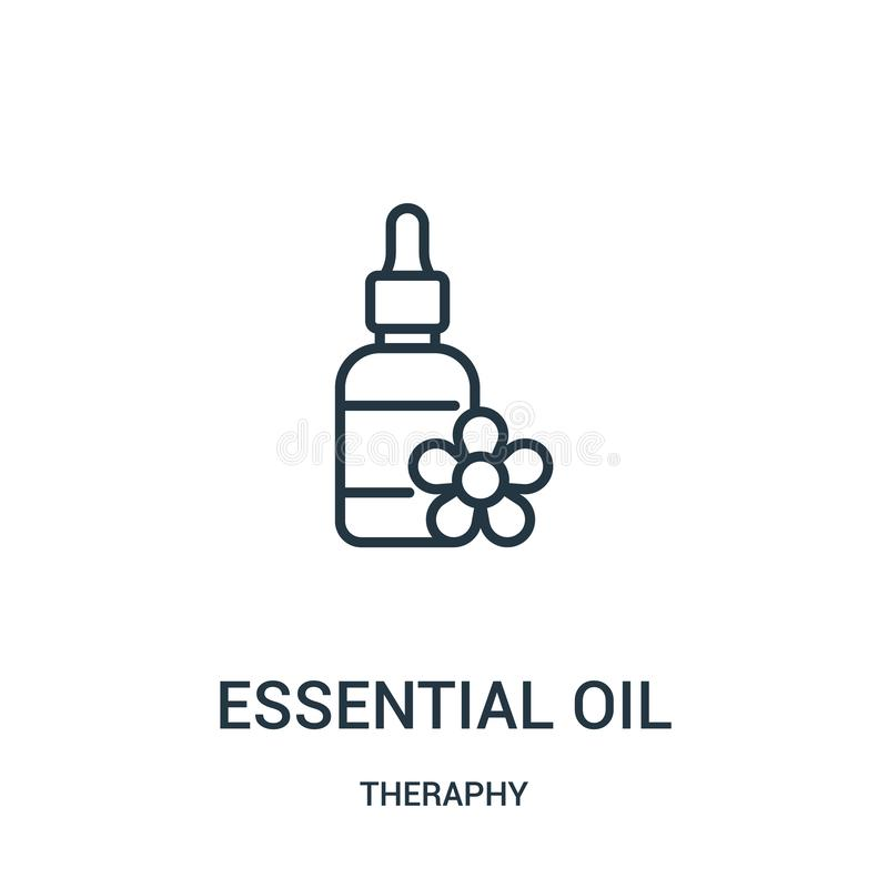 essential oil icon vector from theraphy collection. Thin line essential oil outline icon vector illustration vector illustration