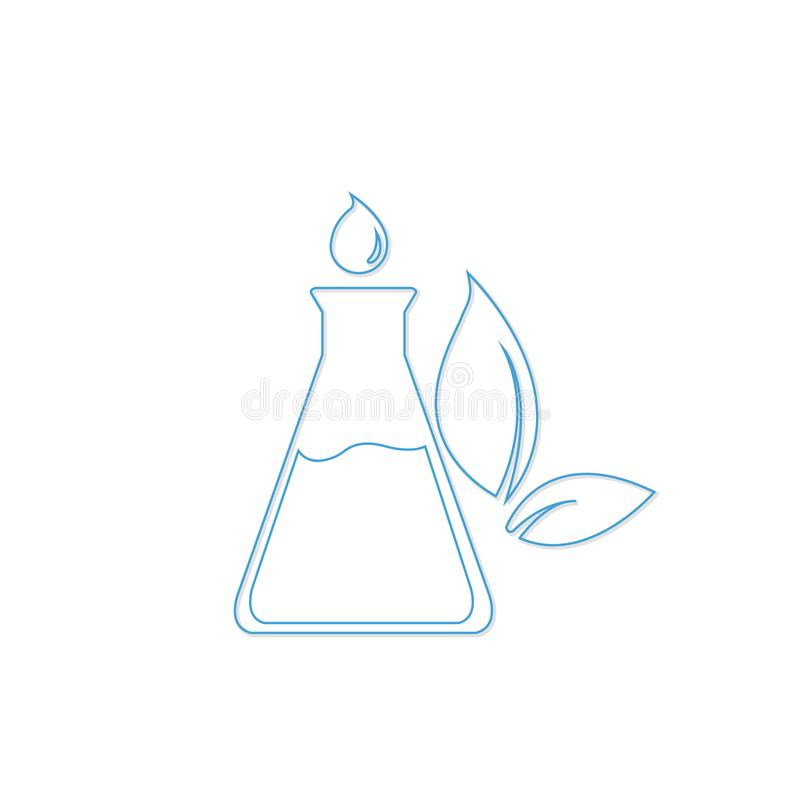 Essential oil logo vector vector illustration