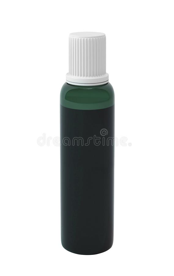Essential oil package isolated on white stock photo