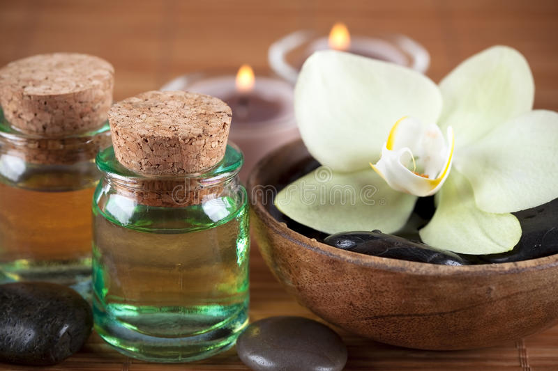 Download Essential oils stock photo. Image of liquid, lotion, stone - 11787174