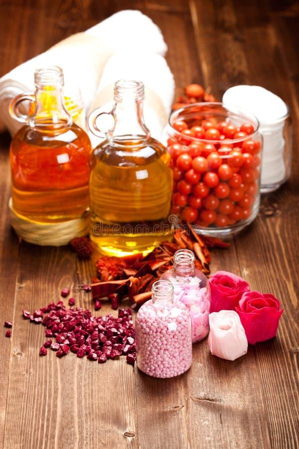 Essential oils and bath salt