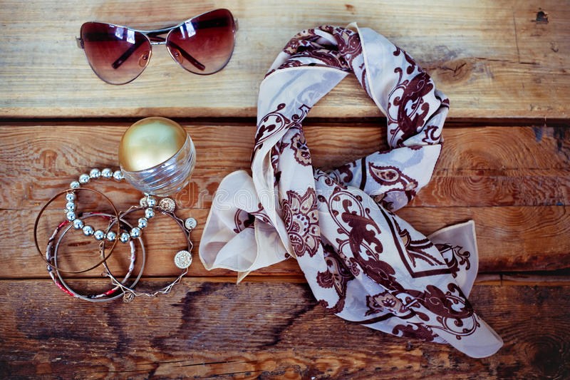 Essentials fashion woman objects royalty free stock images