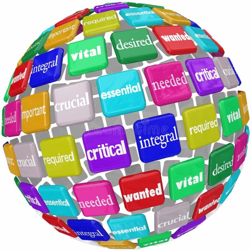 Essentieel Integraal Essentieel Nodig het Personeelsword van de Productwerknemer Ti royalty-vrije illustratie