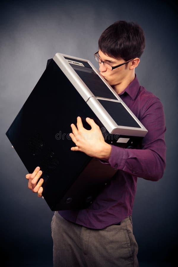 Essere innamorato del nerd fotografia stock libera da diritti
