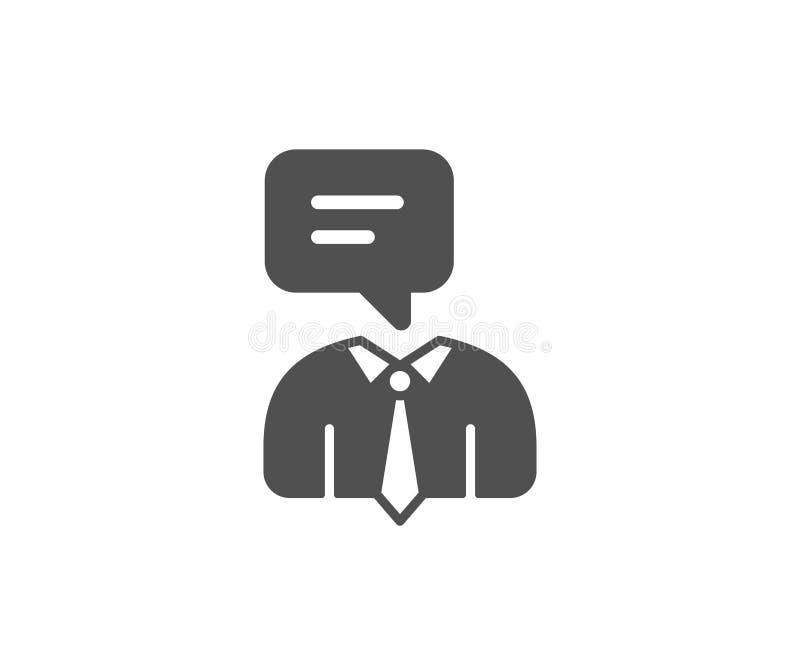 Essere umano che parla icona semplice Segno di conversazione illustrazione vettoriale