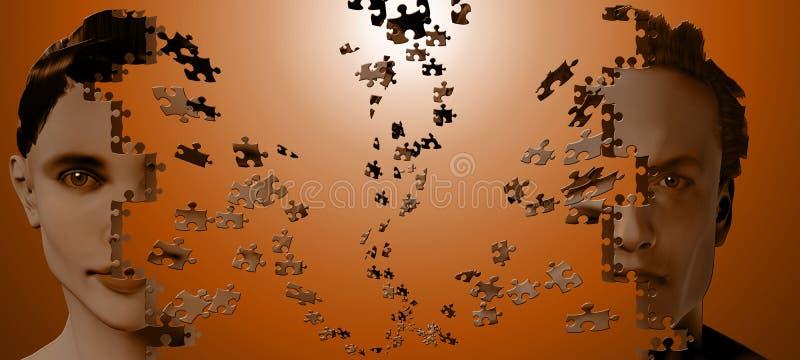 Essere umano di puzzle illustrazione vettoriale