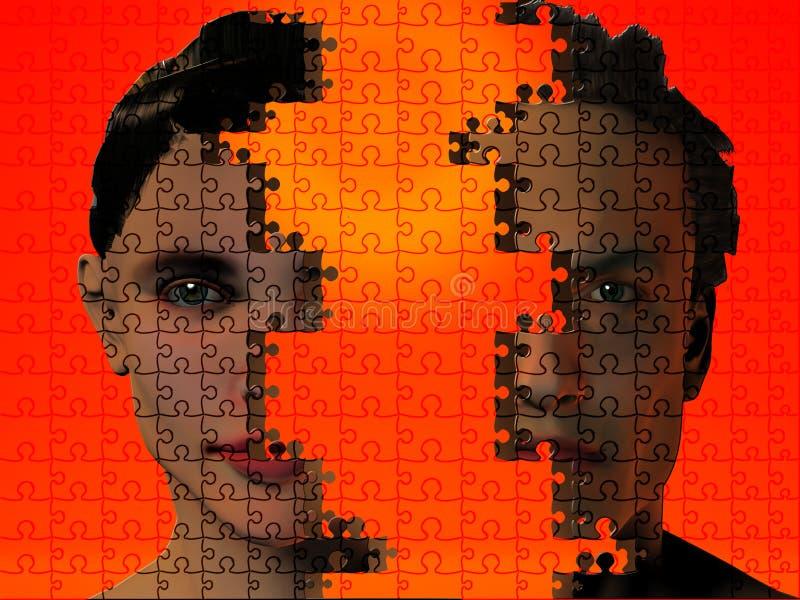 Download Essere umano di puzzle illustrazione di stock. Illustrazione di uomo - 3890230