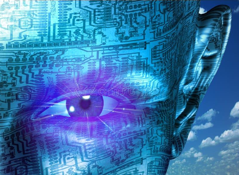 Essere umano di tecnologia illustrazione di stock