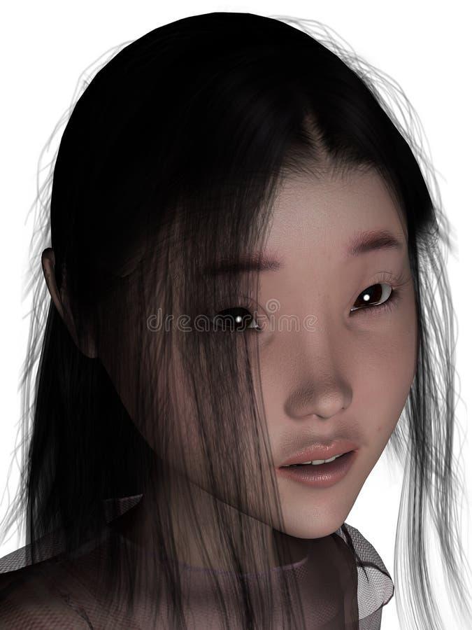 essere umano femminile 3D. fotografia stock