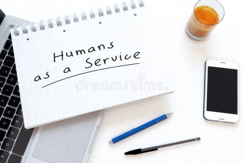 Esseri umani come servizio fotografia stock