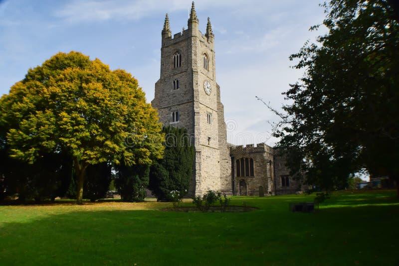 Essex-alte Steinkirche lizenzfreie stockfotos