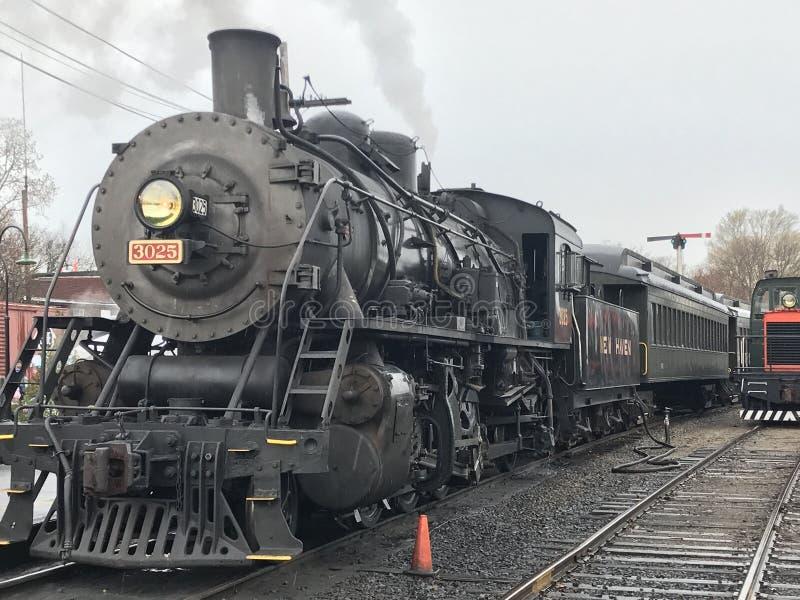 Essex-Dampf-Zug in Connecticut lizenzfreies stockfoto