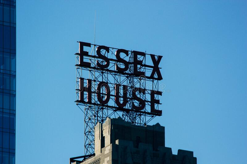Essex House Sign On Rooftop Free Public Domain Cc0 Image